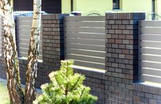 Shades of Bronze House Fence Design, Front Wall Design, Exterior Wall Design, Garden Wall Designs, Modern Fence Design, Boundry Wall, Compound Wall Design, Backyard Patio, Shades