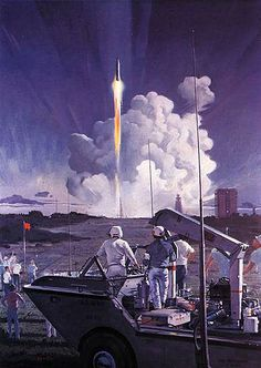 Robert-McCALL--Mercury-launch,-Cape-Canaveral by x-ray delta one, via Flickr