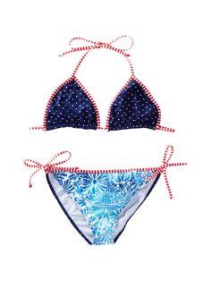 Kids//Girls Blue 2 Piece Bikini Set Multi-Colour Spots//Dots Ruffle Detail 3-12Yrs