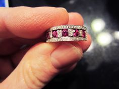 ON SALE - Exquisitely Beautiful 18k White Gold Damiani Diamond and Ruby Ring by bigbouvier on Etsy https://www.etsy.com/listing/169718367/on-sale-exquisitely-beautiful-18k-white