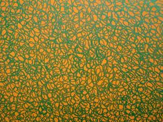 James R Ford, Green scribble filling an orange triangle (detail), 2010 Scribble, Fall Halloween, Fields, Triangle, Ford, Thanksgiving, Crafty, Quilts, Detail