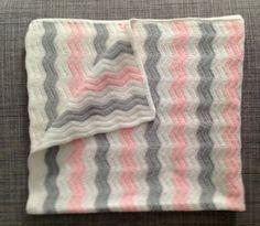Como hacer manta de bebé en zig zag