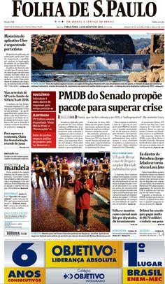 Veja capas dos jornais de 11 de agosto de 2015