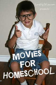 Movies for #homeschool.  A list of family friendly movies and how to make them educational by ilovemy5kids.com aka @loving5kids