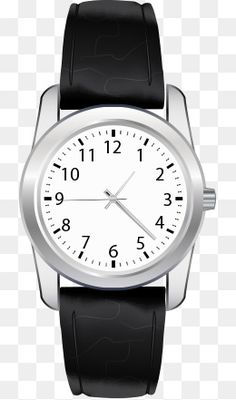 Draw Vector, Vector Free, Black And White Colour, Big Black, Time Icon, Background Drawing, Outline Drawings, Watches For Men