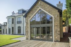 From Bungalows to New Builds, Discover the Ways Express Bi-Folding Doors Have Created Lighter, Brighter Homes with Our Collection of Case Studies. French Doors Patio, Sliding Patio Doors, Traditional Windows, Traditional House, Express Bi Folding Doors, Aluminium Doors, Bright Homes, House Doors, Stone Houses