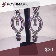 Fashion Earrings Amethyst Crystalline Fashion Earrings Jewelry Earrings