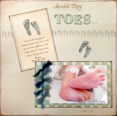 New Baby Scrapbook Layouts | Baby Scrapbooking Ideas