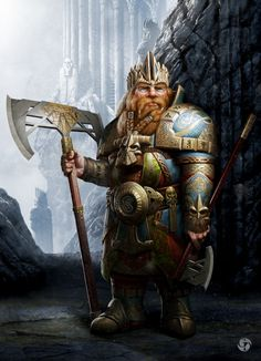How far can the fantasy of artist go? boundless imagination and art as a powerful tool make a good tandem. We collected the most astonishing and best digital art works for your inspiration. Fantasy Dwarf, Fantasy Rpg, Medieval Fantasy, Fantasy Artwork, Fantasy Races, High Fantasy, Fantasy Warrior, Warrior King, Tolkien