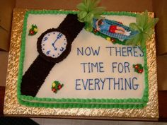 - I did this for a a doctor's retirement. I was disappointed in my writing, but overall thought it turned out nice. Retirement Party Cakes, Retirement Celebration, Teacher Retirement, Retirement Gifts, Retirement Planning, Retirement Sayings, Retirement Countdown, Retirement Advice, Early Retirement