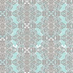 Fun Accent Fabric For Throw Pillows Khristian A Howell - Modern Eclectic - Modern Lace in Blue: Throw pillows