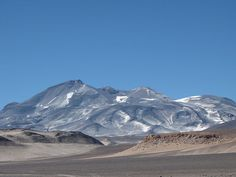 Ojos del Salado, Andes, 18 January 2010, The volcano looming on the horizon. Elevation 6,893 m (22,615 ft); Prominence 3,688 m (12,100 ft) - Ranked 43rd