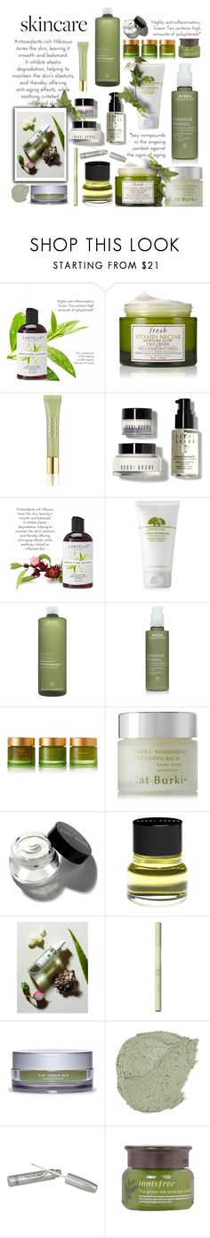 """""""Hello, Flawless: Skincare"""" by colierollers ❤ liked on Polyvore featuring beauty, Fresh, AERIN, Bobbi Brown Cosmetics, Origins, Aveda, Tata Harper, SkinCare, Kat Burki and Pixi"""