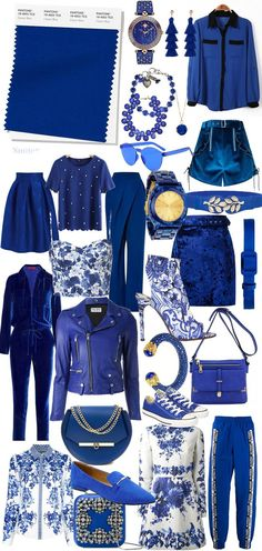 Suéter Azul: Cor do ano 2020 - Pantone Classic Blue pantone 2020 classic blue fashion outfit Pantone Azul, Pantone 2020, Pantone Color, Fashion Colours, Blue Fashion, Look Fashion, Girl Fashion, Classic Fashion, Blue Colour Palette