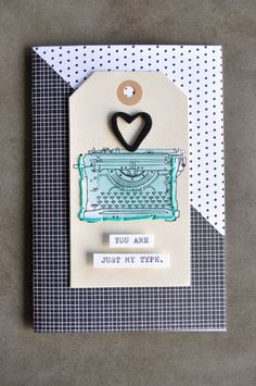 amy tangerine | plus one Use the just my type from stampin up to create this card