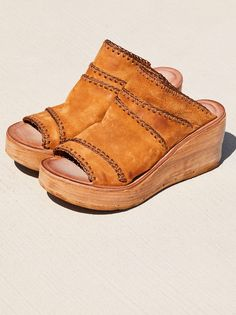 0596e8a8cb2 Dakota Wedge. Tan WedgesOpen ToeFree PeopleShoes HeelsShoe ...