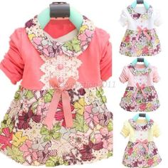Toddler Baby Girls Floral Princess Dress Bowknot One Piece Kids Dress Skirt 0-2Y | Clothing, Shoes & Accessories, Baby & Toddler Clothing, Girls' Clothing (Newborn-5T) | eBay!