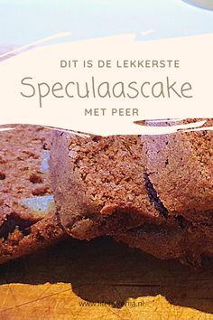 Deze heerlijke speculaascake met peren is heerlijk! De geur die blijft hangen doet je gelijk aan Sinterklaas denken, lekker! Deze cake is gemaakt met echte speculaas brokken en is de ideale cake voor de november en december maanden. ZO met Sint en kers! Je kunt hem natuurlijk ook het hele jaar eten!
