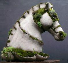 Robert Cannon's Terraform Concrete Garden Sculpture Beton Design, Concrete Design, Head Planters, Horse Sculpture, Garden Sculptures, Sculpture Ideas, Animal Sculptures, Concrete Sculpture, Outdoor Sculpture