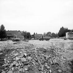 Abrissarbeiten in Lohne, Deutschland