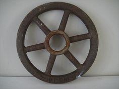 Industrial Wheel Valve Cast Iron Rusty Wheel by RustyNailDesign