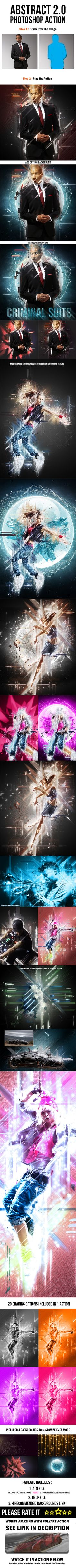 Abstract 2.0 Photoshop Action - Photo Effects Actions