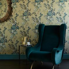 Teal and gold combined, are both luxurious and grown up .  Pair it with a dramatic, dark, laminate flooring for added opulence.