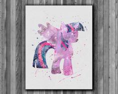 My Little Pony Twilight Sparkle Watercolor Art by MarcoFriend