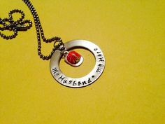 "Hand Stamped ""My Husband My Hero"" Necklace Perfect for a Fireman's / Personalization can be changed on Etsy, $24.00"