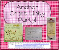 2nd Grade Ponderings: Anchor Chart Linky Party