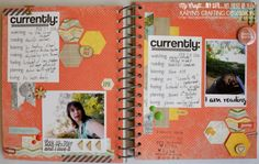 Karyn's Crafting Obsession: Currently Me - Weeks 8 and 9! 365 Smash book idea