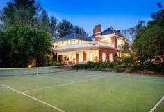 relaxing home tennis court