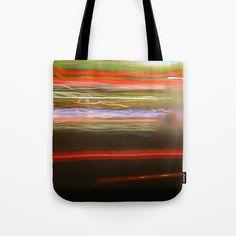Tote Bag - lights blur out a car window - long exposure photograph. G Man, Futurism, Long Exposure, Blur, Shopping Bag, Photograph, Window, Lights, Tote Bag