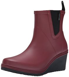 Tretorn Women's Emma (Plask Mid) Rain Boot, Burgundy, 40 EU/9 M US ** Check out the image by visiting the link.