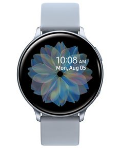 Samsung Galaxy Active 2 Gray Silicone Strap Touchscreen Smart Watch 44mm - Cloud Silver