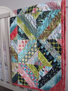 This pattern could work for either kid. Quilts modern string