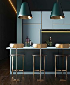 3 Eloquent Tips AND Tricks: Painted Dining Furniture Gray rustic dining furniture home decor.Rustic Dining Furniture Home Decor. New Kitchen Designs, Modern Kitchen Design, Modern Bar, Modern Decor, Modern Interior Design, Interior Design Kitchen, Modern Interiors, Industrial Interiors, Design Bathroom