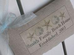 Housewarming Gift, Family Name, Beach House, Established Date, Personalized Gift, Cottage, Custom Sign, Custom Wedding Anniversary Gift. $16.95, via Etsy.