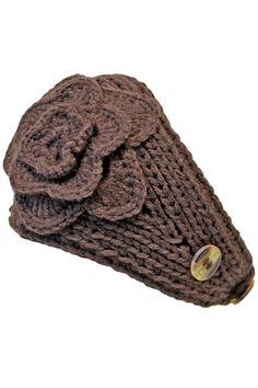Hand Knit Crochet Wide Headband