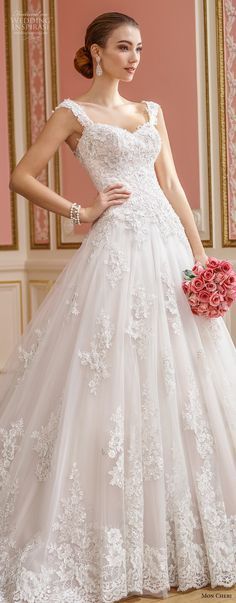 mon cheri fall 2017 bridal sleeveles strap sweetheart neckline heavily embellished bodice romantic princess ball gown wedding dress open back royal train (210) lv -- Mon Cheri Fall 2017 Wedding Dresses