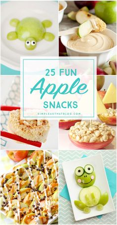 Here are some exciting new ways to serve apples to your kids! Kids will love the variety of apple snacks and are sure to have some fun with their food! Healthy Preschool Snacks, Toddler Snacks, Healthy Snacks, Class Snacks, Classroom Snacks, Cooking Classes For Kids, Cooking With Kids, Cooking Light, Apfel Snacks