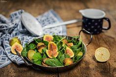Spinatsalat mit Kartoffeln & Feigen, Wintersalat, Salat Rezept, Winter spinach salad recipe