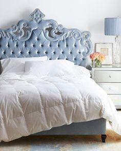 -6DG6 Haute House Julia Queen Tufted Bed Julia King Tufted Bed Julia Tufted California King Bed Hooker Furniture, Bedroom Furniture, Furniture Design, Bedroom Decor, Accent Furniture, Furniture Logo, Blue Bedroom, Cozy Bedroom, Dream Bedroom