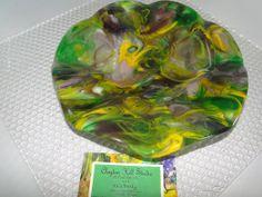Summer Garden Dish - Fused Glass
