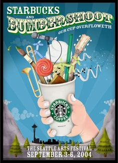 Starbucks Bumbershoot poster from 2004 I have been looking for this!