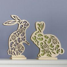 Flourish Easter Bunnies Wood Centerpiece by Lauren Picciuca 4037714