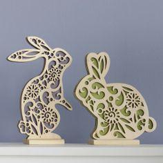 Flourish Easter Bunnies Wood Centerpiece by Lauren Picciuca 4037714