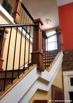 b.williams design - Schwab Kitchen Stair Railing