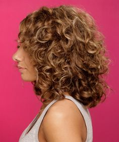Medium curly hairstyles                                                                                                                                                      More