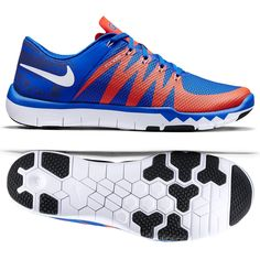 low priced d6a19 06284 NEW MENS NIKE FREE TRAINER 5.0 V6 AMP FLORIDA GATORS BLUE ATHLETIC SHOES Sz  9.5 Coach